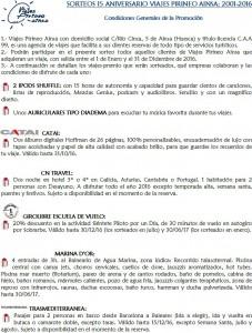 LISTADO PREMIOS 15 ANIVERSARIO